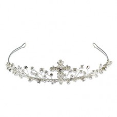 Pearl Tiara with Cross