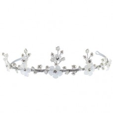 Matt Beaded Flower Tiara