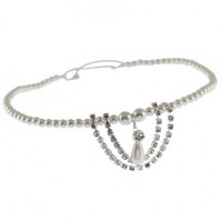 Pearl & Diamante Design Edge Browband on Elastic