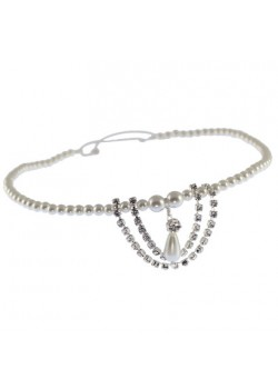 Pearl & Diamante Design Edge Browband on Elastic: A simple addiction to the Holy Communion Dress