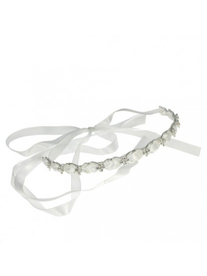 Diamante Headband with satin threaded ribbon: A unique look for First Holy ...