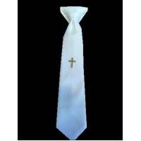 Smart Tie with Cross Ideal For First Communion