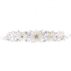 Organza Flowers Beaded Flowergirl Belt