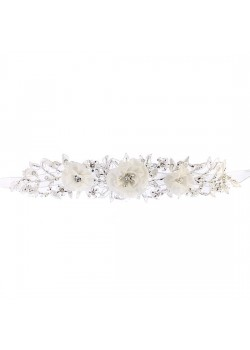 Organza Flowers Beaded Flowergirl Belt to add special effect on the Communion Dress