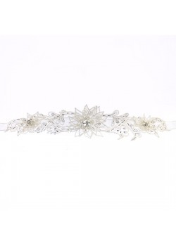 Organza Spikey Flower Flowergirl Belt that will enhance you Holy Communion Dress