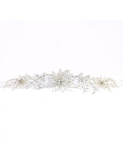 Organza Spikey Flower Flowergirl Belt that will enhance you Holy Communion ...