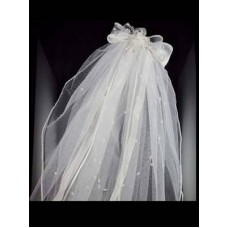 20' Layered Veil in White or Ivory Ideal For Communion