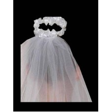 Satin and Pearl Bun Wrap Ideal For First Communion