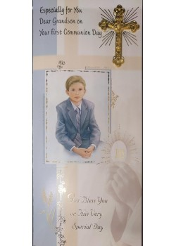 Grandson Boxed First Holy Communion Card