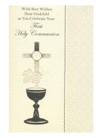 Godchild First Holy Communion Card...