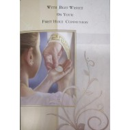 Boy First Holy Communion Card with lovely verse