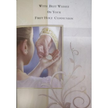 Boy 1st Communion Card with lovely verse