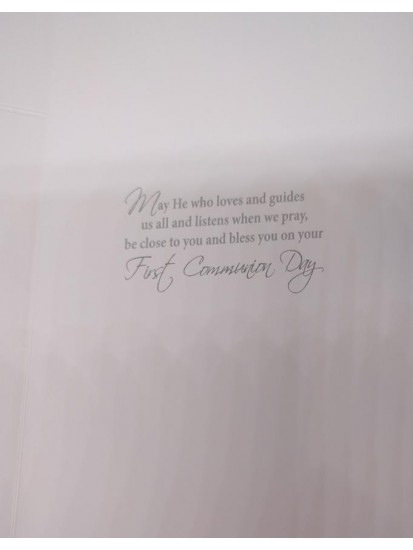 Boy First Holy Communion Card with lovely verse...
