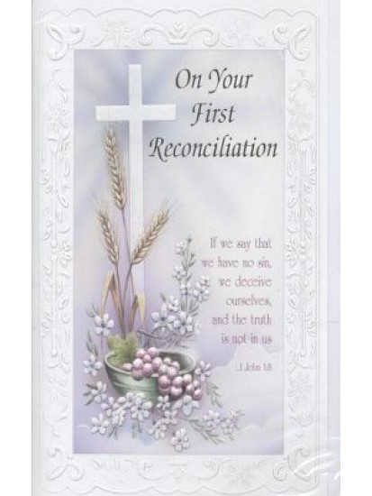 Reconciliation Card for First Confession...