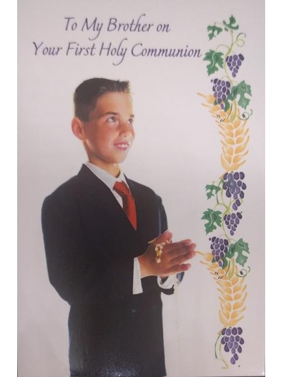 Son First Holy Communion Card...
