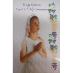 Daughter Communion Card