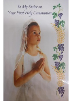 Daughter First Holy Communion Card