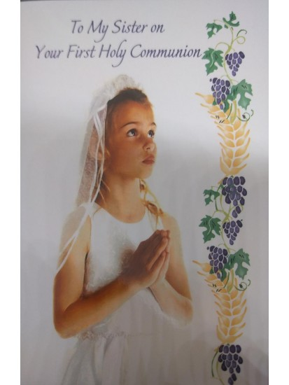 Daughter First Holy Communion Card...
