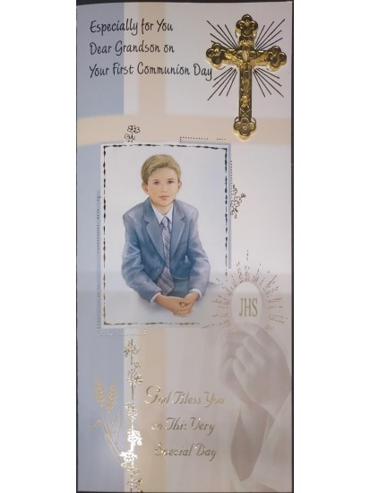 Grandson Boxed First Holy Communion Card...