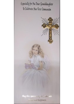 Granddaughter Boxed Holy Communion Card