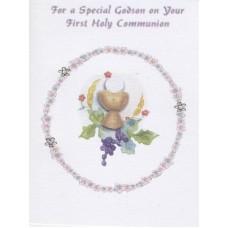 Communion Card Godson