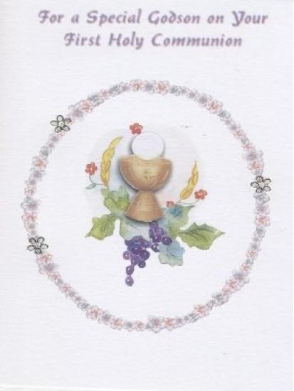 Godson First Holy Communion Card...
