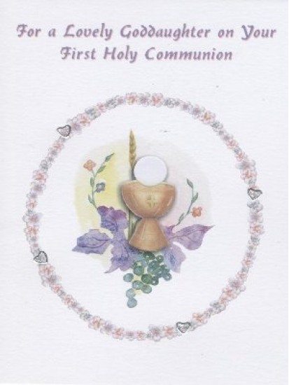 Goddaughter First Holy Communion Card...