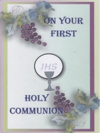 Holy Communion Card Generic with Blessings...