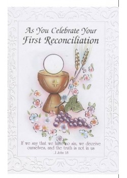 First Reconciliation Card for First Confession