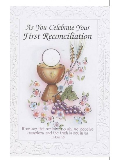 First Reconciliation Card for First Confession...