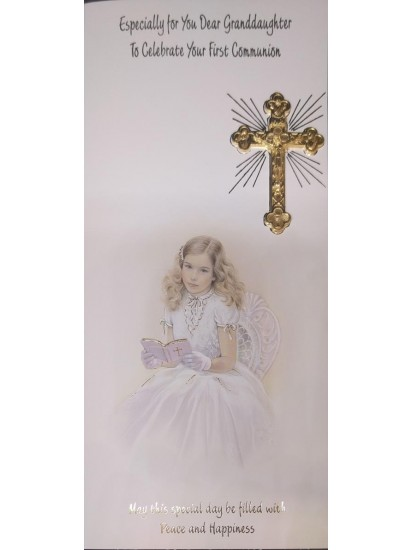 Granddaughter Boxed Holy Communion Card...