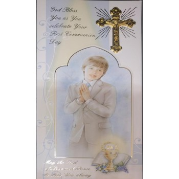 Boy Boxed Holy Communion Card