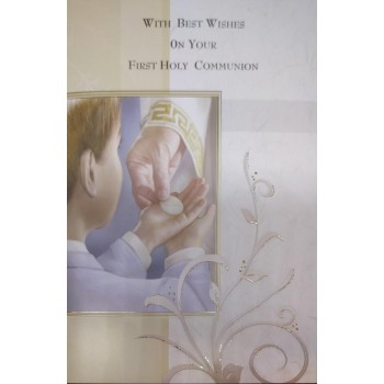 Boy 1st Holy Communion Card