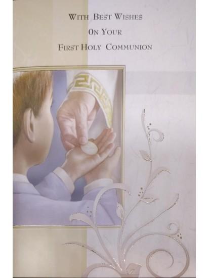 Boy First Holy Communion Card...
