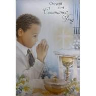 Boy First Holy Communion Card