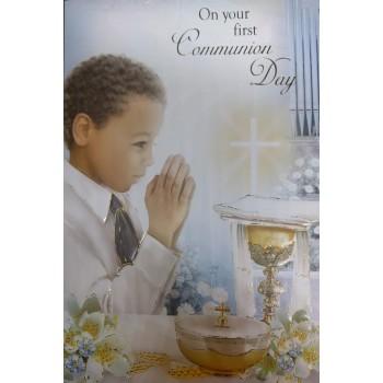 Boy Holy Communion Card
