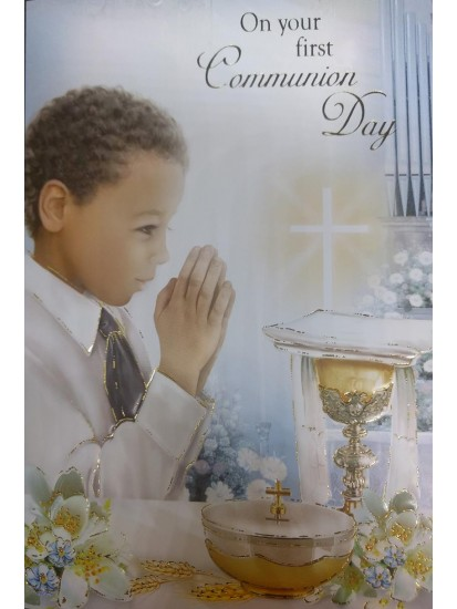 Boy First Holy Communion Card...