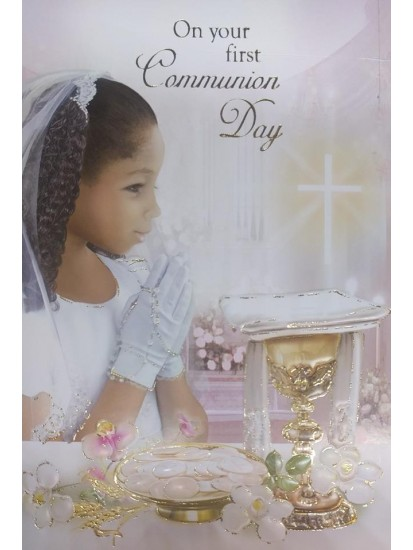 Girl First Holy Communion Card...