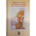 Granddaughter First Holy Communion Card