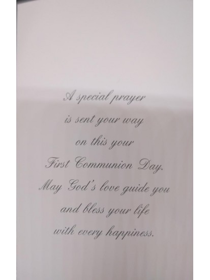Boy Boxed Holy Communion Card...