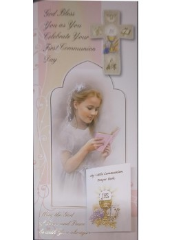 Girl Boxed First Holy Communion Card