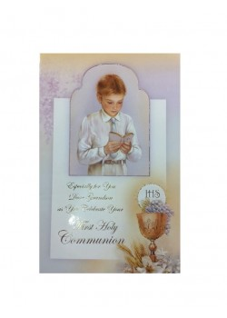 Grandson First Holy Communion Card