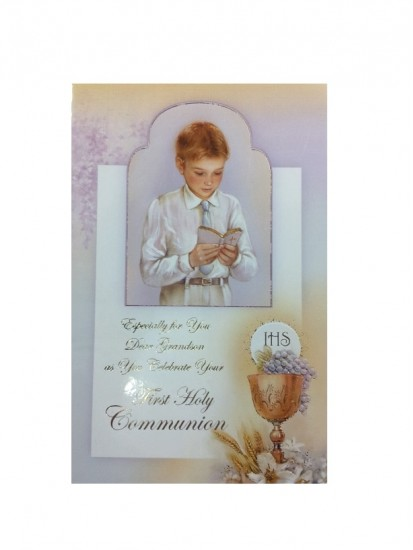 Grandson First Holy Communion Card...