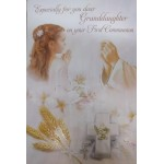 Granddaughter 1st Communion Card