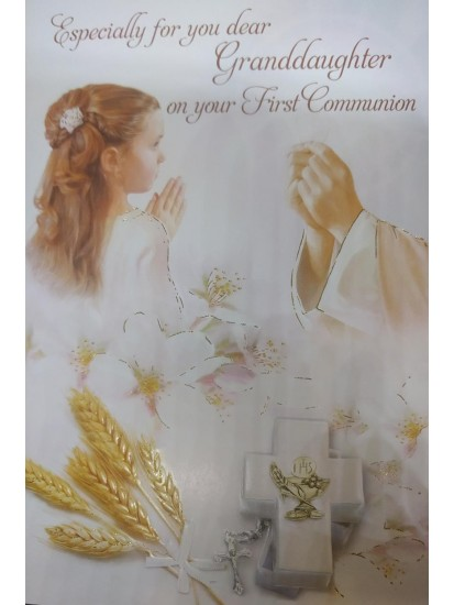 Granddaughter First Holy Communion Card...