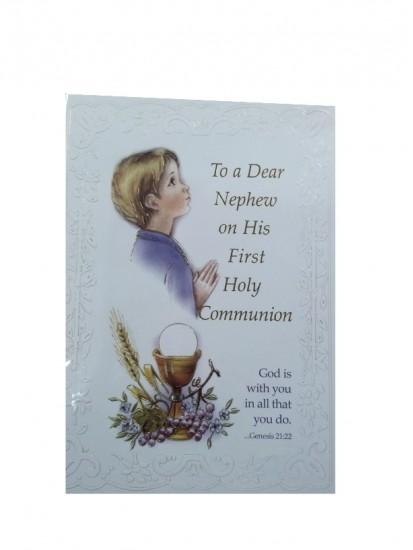 Nephew First Holy Communion Card...
