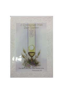 Nephew First Holy Communion Card