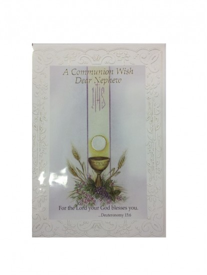 Nephew First Holy Communion Card...