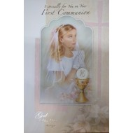 Girl First Holy Communion Card