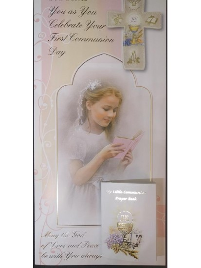 Girl Boxed First Holy Communion Card...